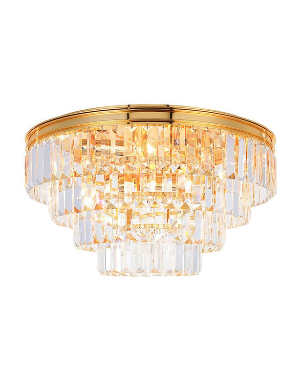 Jordan Collection - Flush Mount Chandelier - 50cm - Gold Plated