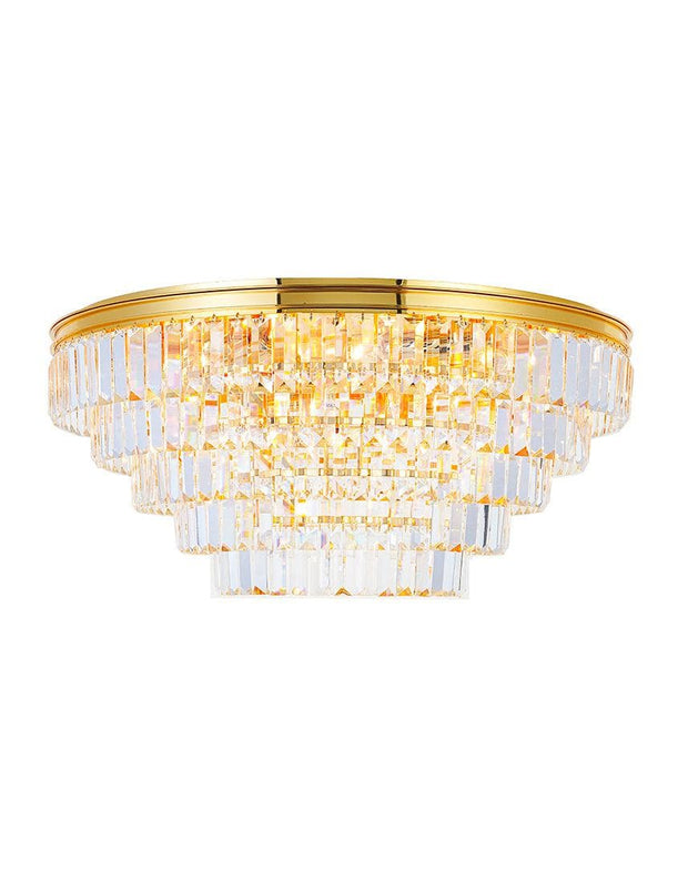 Jordan Collection - Flush Mount Chandelier - 70cm - Gold Plated