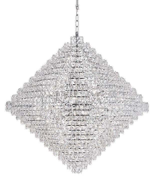 NewYork - Diamond Edge Crystal Pendant Light - 110cm - Designer Chandelier