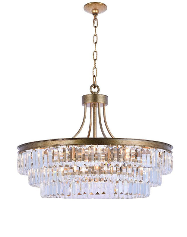 Jordan Collection - 70cm - Antique Gold - Designer Chandelier