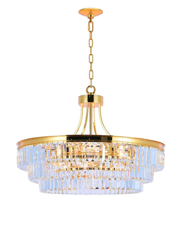 Jordan Collection - 70cm - Gold Plated - Designer Chandelier