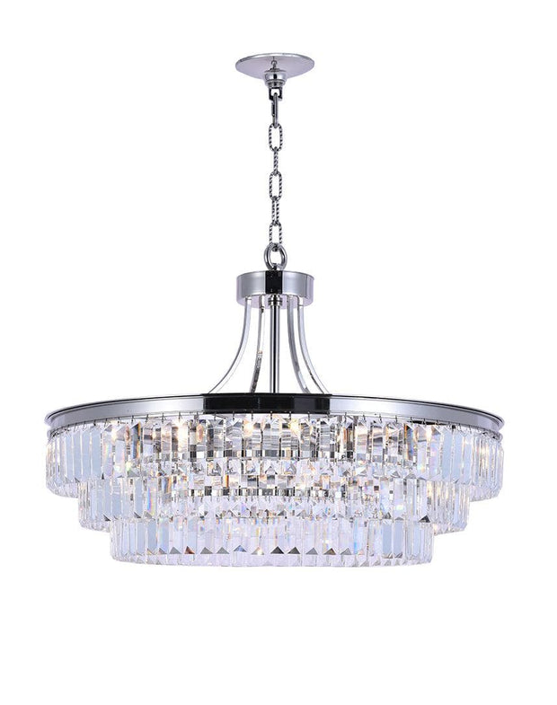 Jordan Collection - 70cm - Nickel Plated - Designer Chandelier