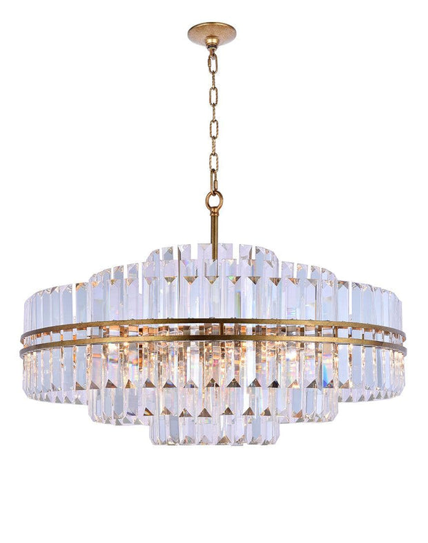 Ashton Collection - 80cm - Antique Gold - Designer Chandelier