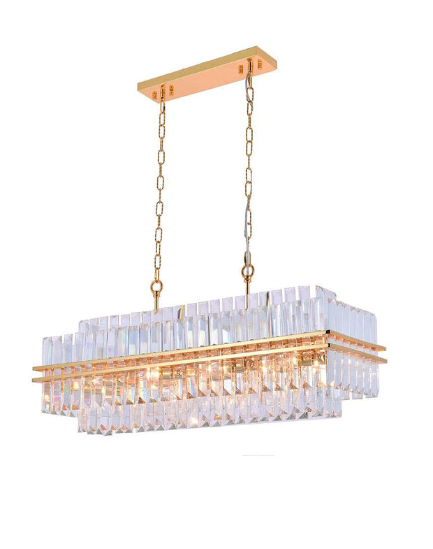 Ashton Collection - 90 cm Bar Light - Gold Plated - Designer Chandelier