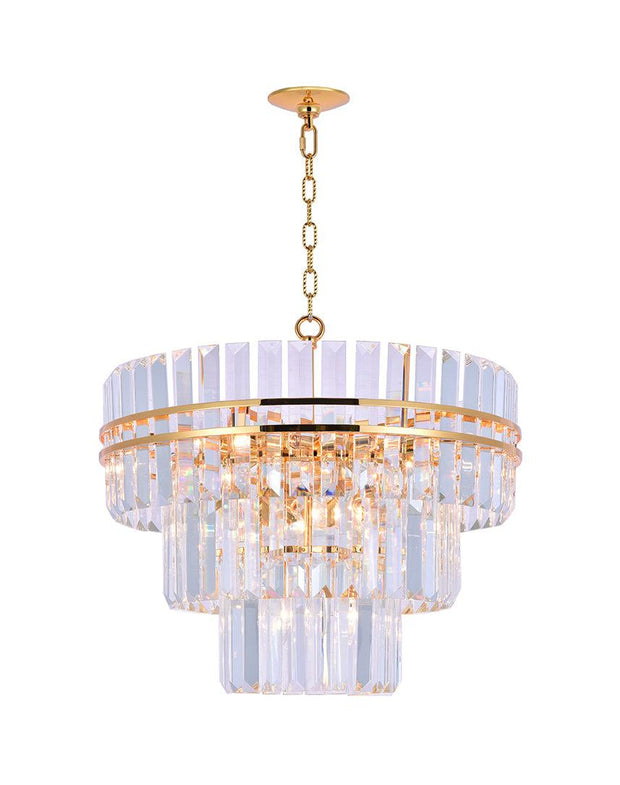 Ashton Collection - Three Tier - 50 cm - Gold Plated - Designer Chandelier