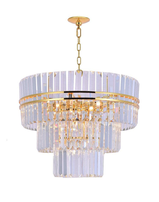 Ashton Collection - Three Tier - 68cm - Gold Plated - Designer Chandelier