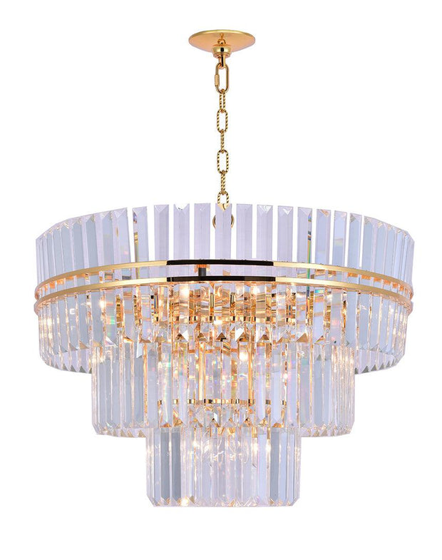 Ashton Collection - Three Tier - 80cm - Gold Plated - Designer Chandelier