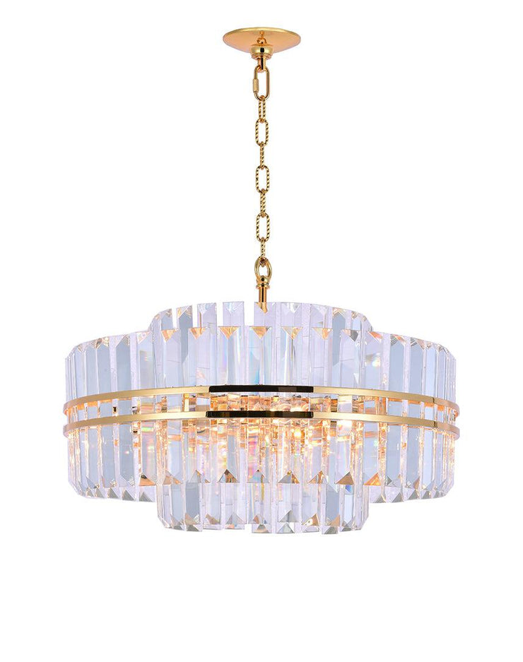 Ashton Collection - 55 cm - Gold Plated - Designer Chandelier