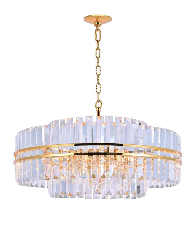 Ashton Collection - 68cm - Gold Plated - Designer Chandelier