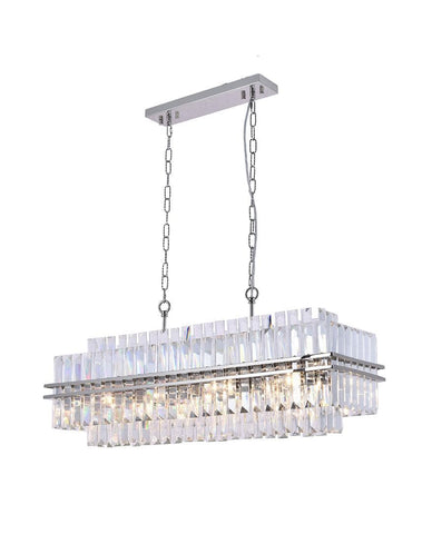 Ashton Collection - 90 cm Bar Light - Nickel Plated - Designer Chandelier