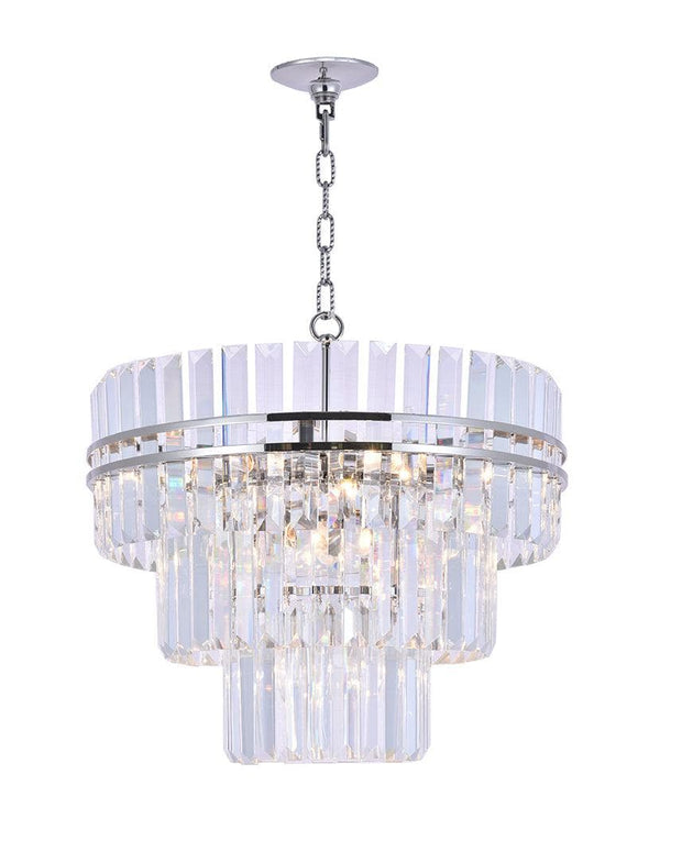 Ashton Collection - Three Tier - 50 cm - Nickel Plated - Designer Chandelier