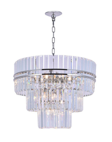 Ashton Collection - Three Tier - 68cm - Nickel Plated - Designer Chandelier