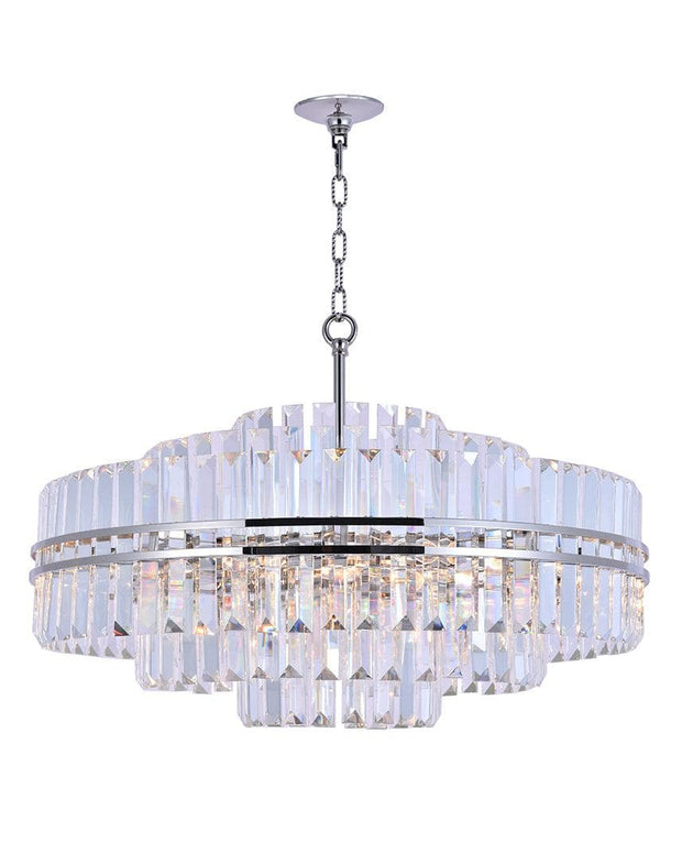 Ashton Collection - 80cm - Nickel Plated - Designer Chandelier