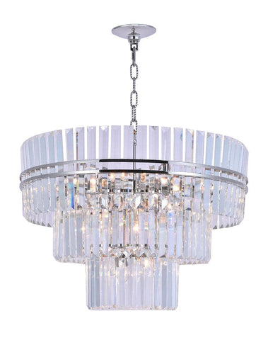Ashton Collection - Three Tier - 80cm - Nickel Plated - Designer Chandelier