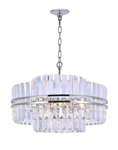Ashton Collection - 55 cm - Nickel Plated - Designer Chandelier