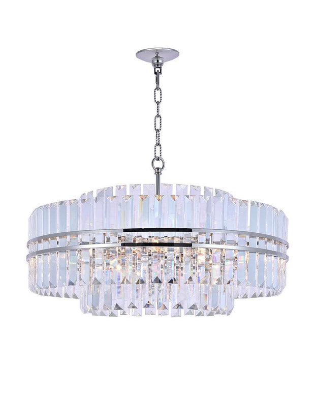 Ashton Collection - 68cm - Nickel Plated - Designer Chandelier