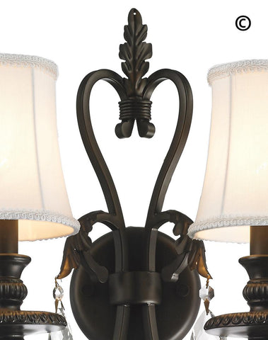 ARIA - Hampton Triple Arm Wall Sconce - Dark Bronze - Designer Chandelier  ARIA - Hampton Triple Arm Wall Sconce - Dark Bronze - Designer Chandelier