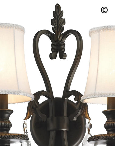 ARIA - Hampton Double Arm Wall Sconce - Dark Bronze ARIA - Hampton Double Arm Wall Sconce - Dark Bronze - Designer Chandelier