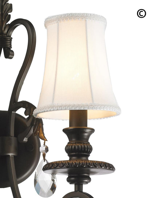 ARIA - Hampton Triple Arm Wall Sconce - Dark Bronze - Designer Chandelier