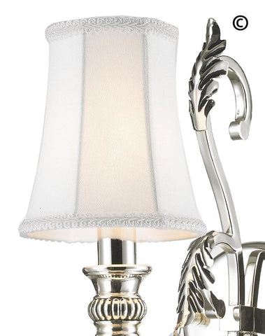 ARIA - Hampton Single Arm Wall Sconce - Silver Plated ARIA - Hampton Single Arm Wall Sconce - Silver Plated - Designer Chandelier