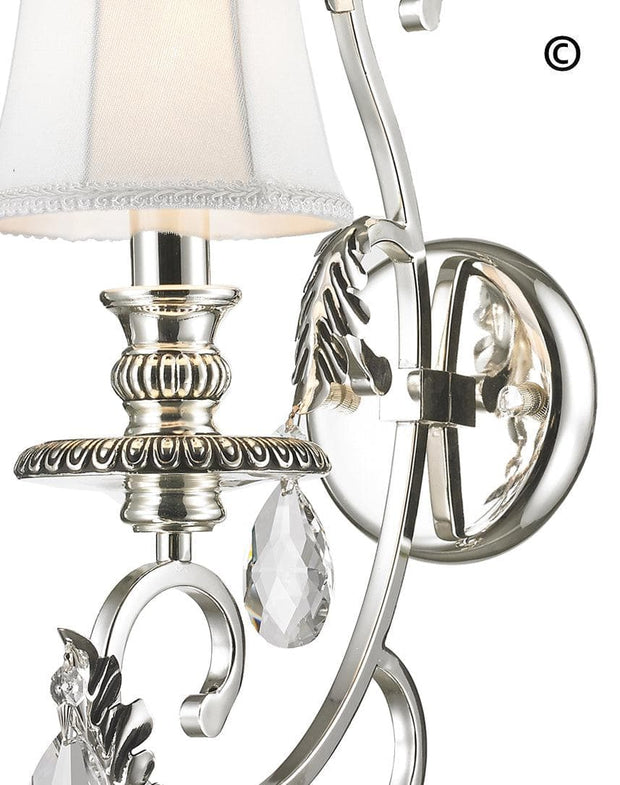 ARIA - Hampton Single Arm Wall Sconce - Silver Plated - Designer Chandelier