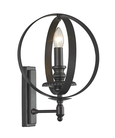 Hampton Orb - Wall Sconce - Dark Bronze - Designer Chandelier  Hampton Orb - Wall Sconce - Dark Bronze - Designer Chandelier