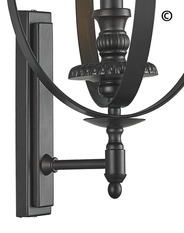 Hampton Orb - Wall Sconce - Dark Bronze - Designer Chandelier