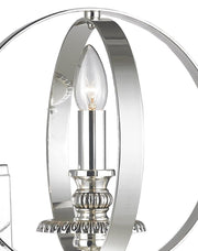 Hampton Orb - Wall Sconce - Silver Plated - Designer Chandelier