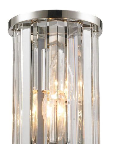 NewYork Oasis Wall Sconce - Clear - Height 22cm Odeon Wall Sconce - Clear - Height 22cm