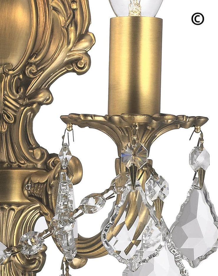 AMERICANA 2 Light Wall Sconce - Victorian - Brass Finish - Designer Chandelier
