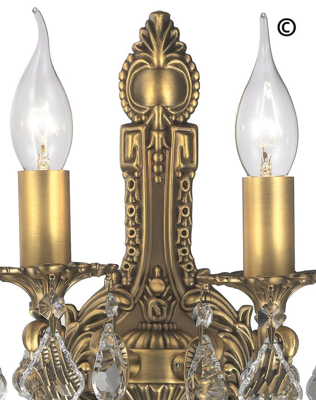 AMERICANA 2 Light Wall Sconce - Edwardian - Brass Finish - Designer Chandelier