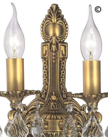 AMERICANA 2 Light Wall Sconce - Edwardian - Brass Finish AMERICANA 2 Light Wall Sconce - Edwardian - Brass Finish - Designer Chandelier