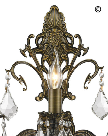 AMERICANA 3 Light Wall Sconce - Antique Bronze Style - Designer Chandelier  AMERICANA 3 Light Wall Sconce - Antique Bronze Style - Designer Chandelier
