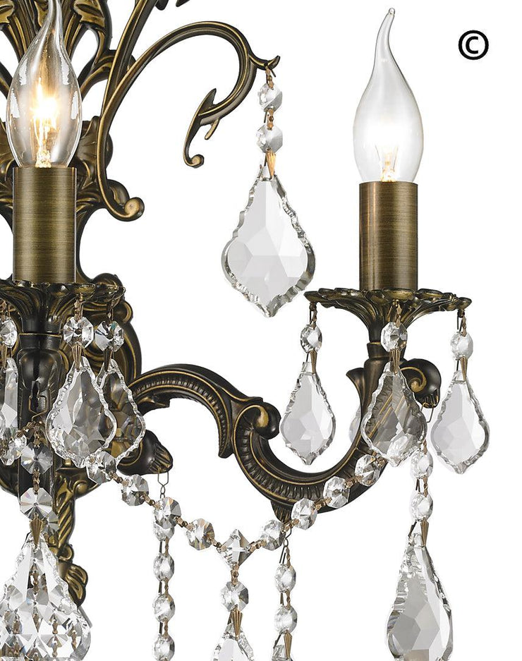 AMERICANA 3 Light Wall Sconce - Antique Bronze Style - Designer Chandelier