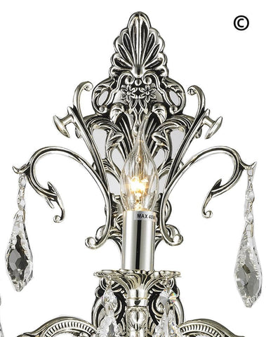 AMERICANA 3 Light Wall Sconce - Silver Plated AMERICANA 3 Light Wall Sconce - Silver Plated-Designer Chandelier Australia