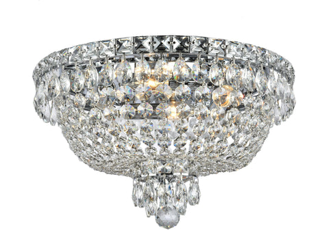 NewYork Empress - Flush Mount Basket Chandelier - Chrome - W:40cm NewYork Empress - Flush Mount Basket Chandelier - Chrome - W:40cm