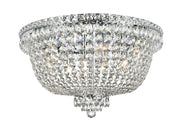NewYork Empress - Flush Mount Basket Chandelier - Chrome - W:60cm - Designer Chandelier