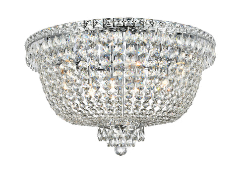NewYork Empress - Flush Mount Basket Chandelier - Chrome - W:60cm - Designer Chandelier  NewYork Empress - Flush Mount Basket Chandelier - Chrome - W:60cm - Designer Chandelier