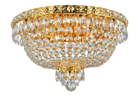 NewYork Empress - Flush Mount Basket Chandelier - Gold - W:40cm - Designer Chandelier  NewYork Empress - Flush Mount Basket Chandelier - Gold - W:40cm - Designer Chandelier