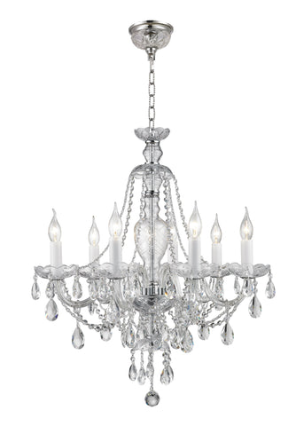 Bohemian Brilliance 7 Arm Crystal Chandelier- CHROME - Designer Chandelier  Bohemian Brilliance 7 Arm Crystal Chandelier- CHROME - Designer Chandelier