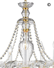 Bohemian Brilliance 7 Arm Crystal Chandelier- GOLD - Designer Chandelier