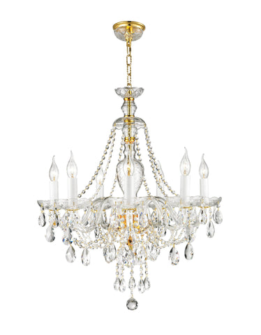Bohemian Brilliance 7 Arm Crystal Chandelier- GOLD - Designer Chandelier  Bohemian Brilliance 7 Arm Crystal Chandelier- GOLD - Designer Chandelier