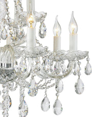 Bohemian Brilliance 12 Arm Crystal Chandelier- CHROME - Designer Chandelier