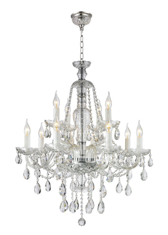 Bohemian Brilliance 12 Arm Crystal Chandelier- CHROME - Designer Chandelier  Bohemian Brilliance 12 Arm Crystal Chandelier- CHROME - Designer Chandelier