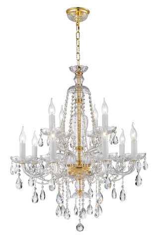 Bohemian Brilliance 12 Arm Crystal Chandelier- GOLD Bohemian Brilliance 12 Arm Crystal Chandelier- GOLD