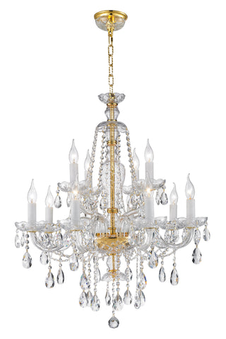 Bohemian Brilliance 12 Arm Crystal Chandelier- GOLD - Designer Chandelier  Bohemian Brilliance 12 Arm Crystal Chandelier- GOLD - Designer Chandelier