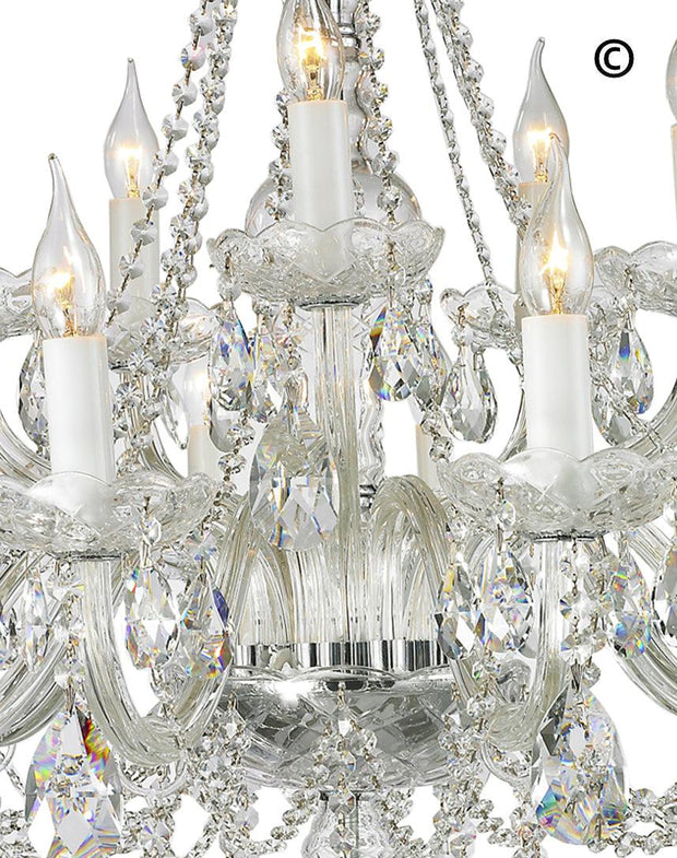 Bohemian Brilliance 15 Arm Crystal Chandelier- CHROME - Designer Chandelier
