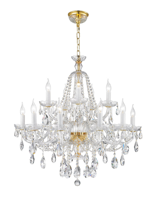 Bohemian Brilliance 15 Arm Crystal Chandelier- GOLD - Designer Chandelier