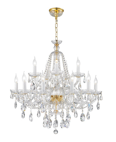 Bohemian Brilliance 15 Arm Crystal Chandelier- GOLD Bohemian Brilliance 15 Arm Crystal Chandelier- GOLD