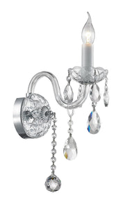 Bohemian Elegance Single Arm Wall Light Sconce- CHROME - Designer Chandelier